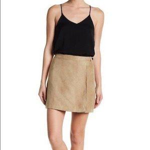 NWT BCBGeneration Faux Suede Wrap Miniskirt